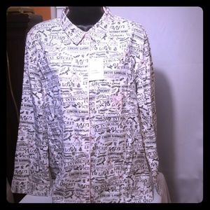 Victoria Secret Sleep Wear Button Up Shirt VS Logo